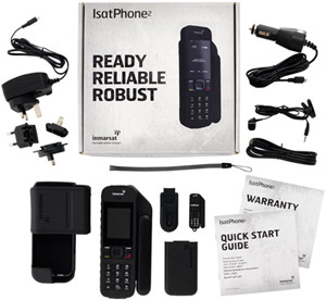 комплектация isatphone 2 box and accessories